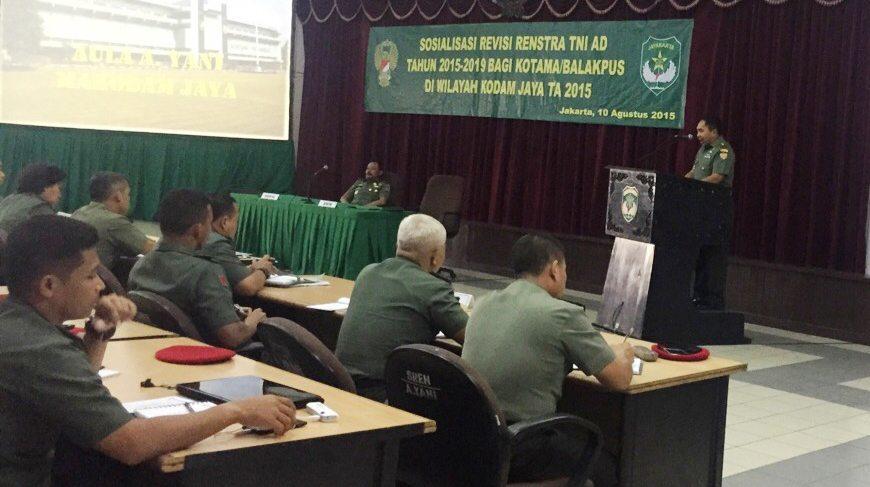 Sosialisasi Revisi Renstra TNI AD Tahun 2015-2019 di Kodam Jaya