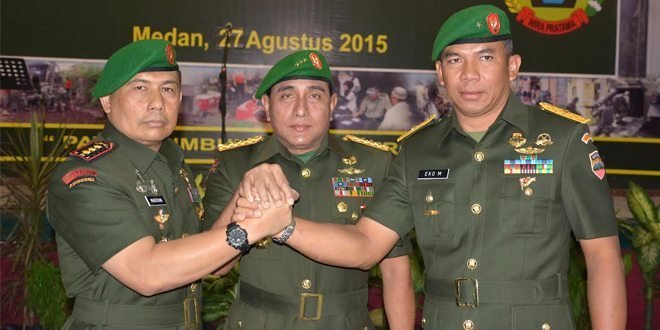 Pangdam I/BB Pimpin Sertijab Komandan Korem 033/WP