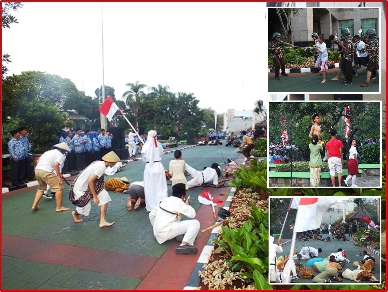Semarakkan HUT Kemerdekaan RI ke 70 Kodim Jakarta Selatan Gelar Drama Perjuangan Tugu Tani