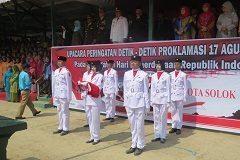 Sang Merah Putih Sukses Dikibarkan di Lapangan Merdeka Kodim 0309/Solok