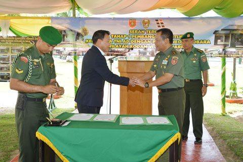 Pangdam VI/Mlw Resmikan Perumahan RTLH Kompi Senapan C Yonif 600/Raider