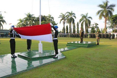Upacara Detik-Detik Proklamasi Kemerdekaan Ri Ke 70 Di Makorem 091/ASN
