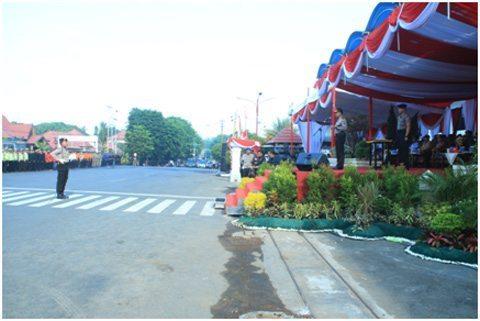Danramil 1006-07/Banjarbaru Ikut Pembukaan Latihan Sispam Kota