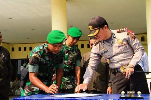Kodim 0910/Mln Siap Bantu Polri Dalam Pengamanan Pilkada Di Malinau
