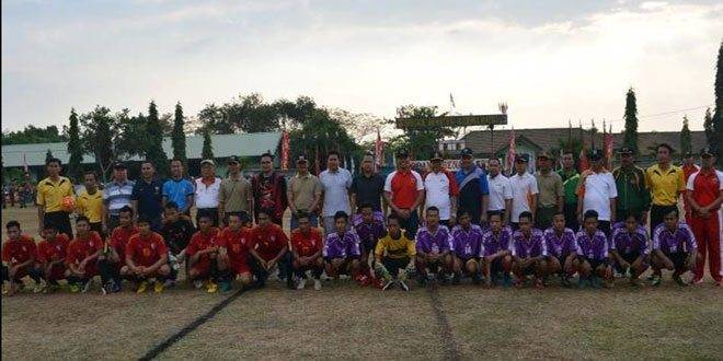 Danbrigif-4/DR Buka Turnamen Sepak Bola Dewa Ratna Cup I