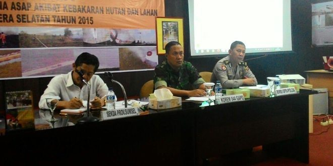 Korem 044/Gapo Kerahkan 390 Personel Penanggulangan Bencana Asap