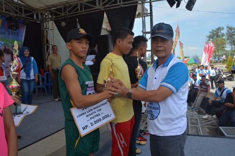 Pelari Marathon Bengkulu Anggota Yonif 144