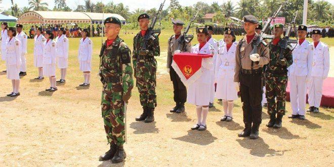Satgas Yonif 400/Raider Peringati HUT Kemerdekaan RI ke-70 di Papua