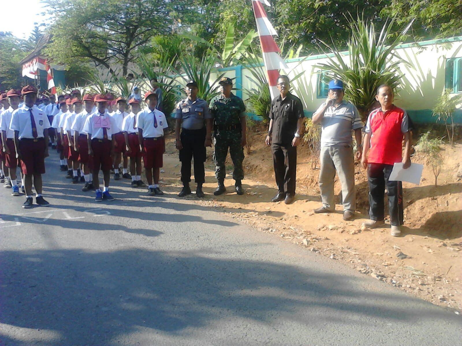 Tanamkan Rasa Patriotisme, Koramil 15/Geger Bangkalan Gelar Lomba Gerak Jalan TK dan SD