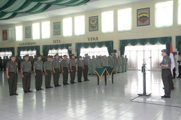 Pangdam XII/Tpr Terima Laporan Korps Pejabat Gol IV dan V