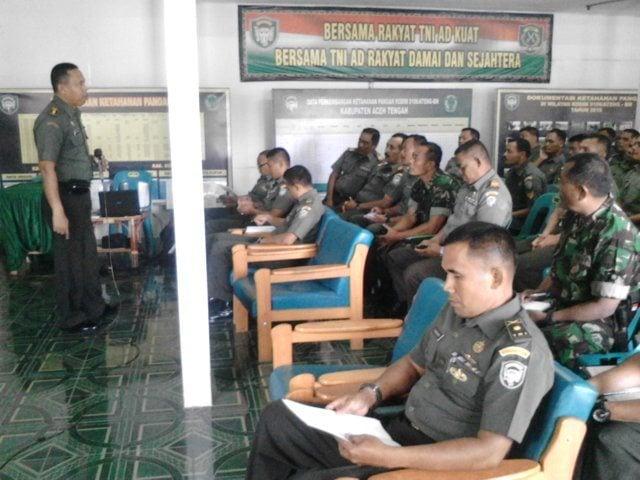Kodim 0106/Ateng BM Menerima Kunjungan dan Pengarahan Dari Tim Asistensi Sisrendal Binter Pusterad