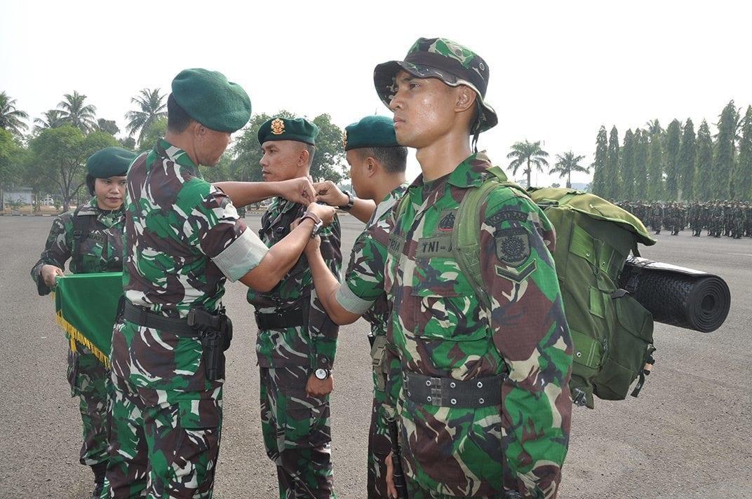 530 Prajurit Ikuti Tradisi Korps Pembaretan Masuk Satuan Kostrad
