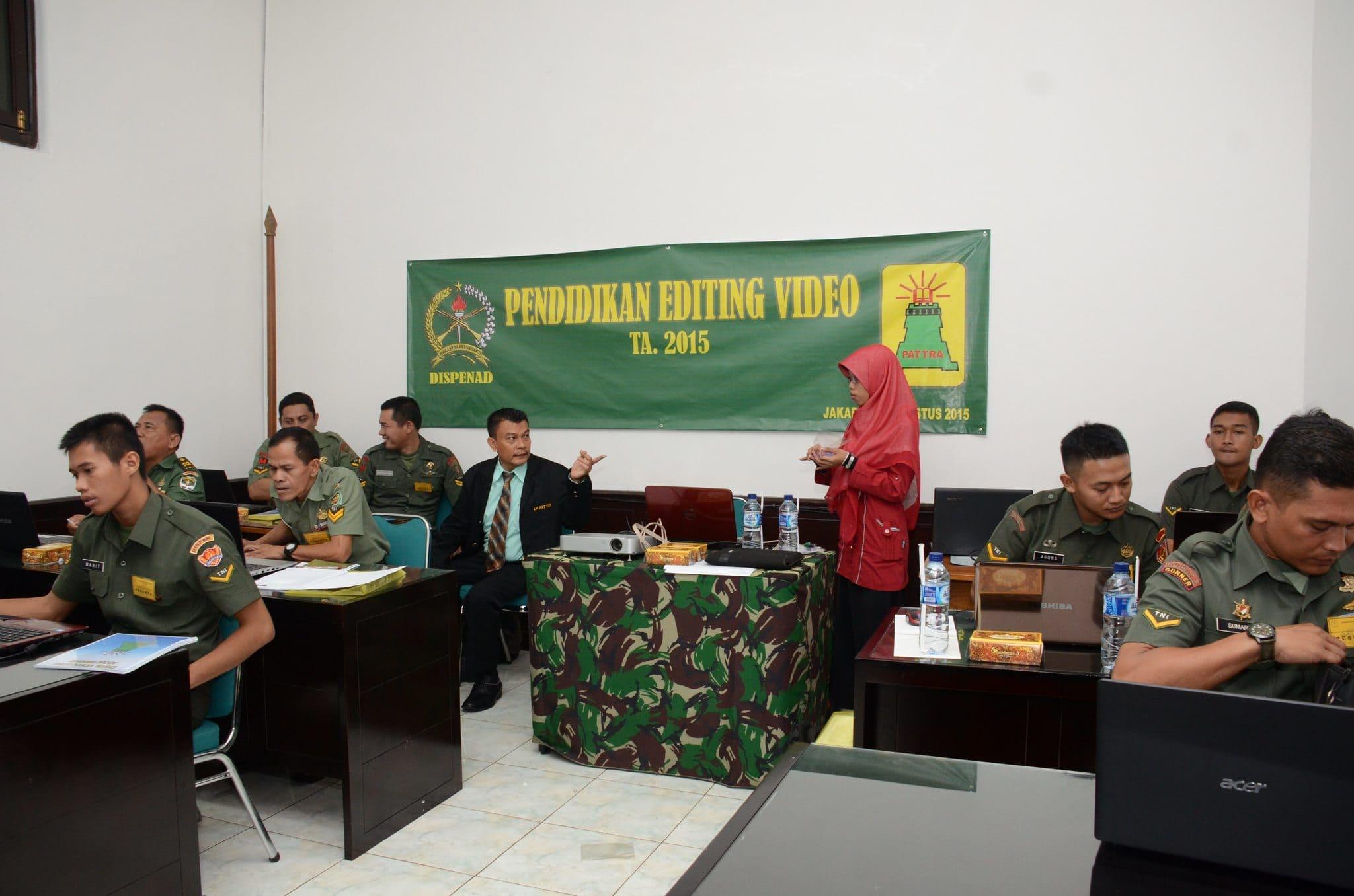 Dispenad Selenggarakan Pendidikan Editing Video