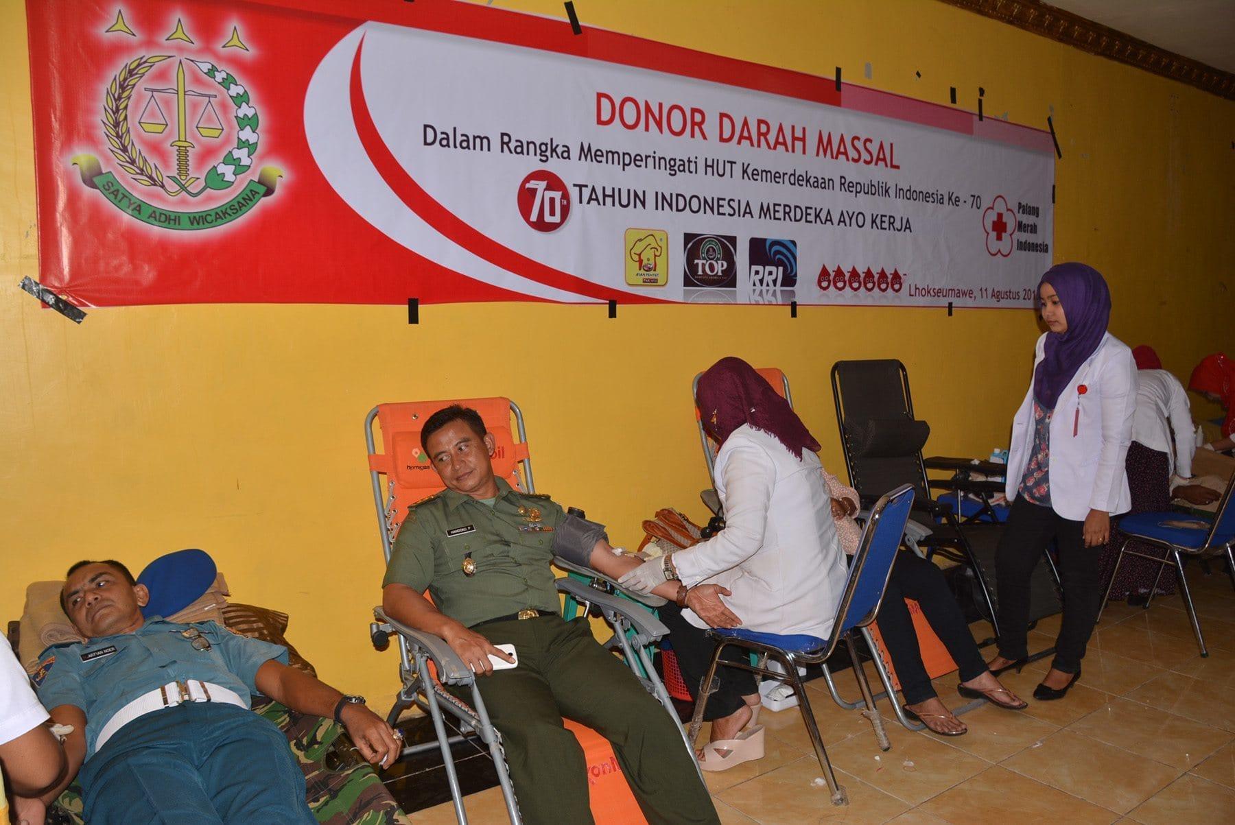 Atasi Krisis, Kasrem 011/LW Donor Darah