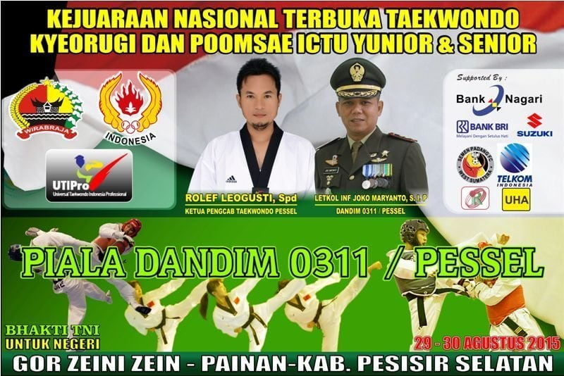 Dandim 0311/Pessel, Gelar Kejurnas Terbuka Taekwondo