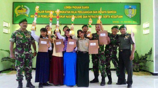 Kodim 0809/ Kediri Mengadakan Lomba Paduan Suara Lagu Lagu Perjuangan Tingkat SLTP se- Kabupaten Kediri