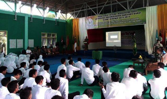 Korem 032/Wbr Berikan Materi Wasbang di Universitas Muhammadiyah