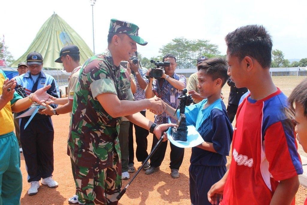 Tim Kuwarasan Ungguli Tim Ayah 5-0 Turnamen Dandim Cup