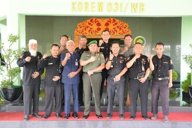 Danrem 031/Wirabima Terima Audensi Senkom Mitra Polri Provinsi Riau