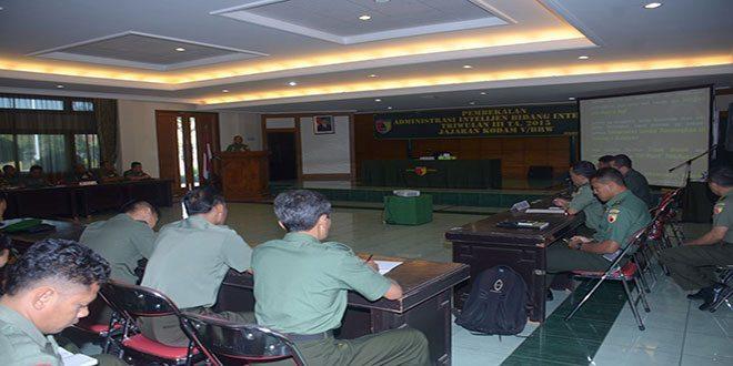 Rapat Tertib Administrasi Bidang Intelijen dan Pangamanan Kodam V/Brawijaya