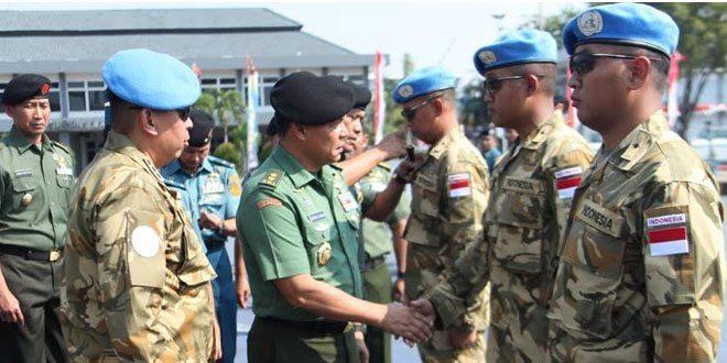 Asops Panglima TNI Inspeksi Kesiapan Satgas MTF TNI Konga XXVIII-H/UNIFIL