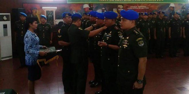 Danpomdam Jaya Pimpin Sertijab Dandenpom Jaya-1 dan Dandenpom Jaya-2