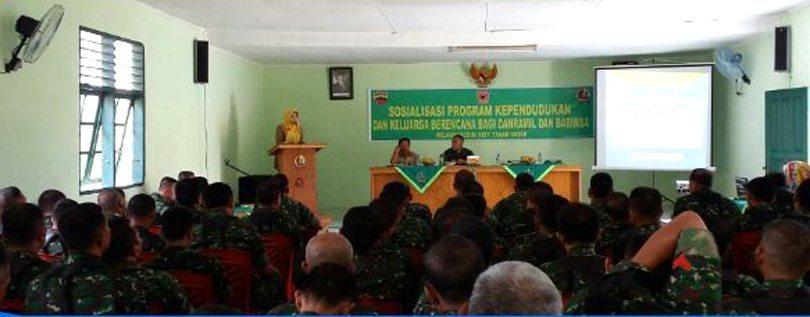 Kodim 0307/Td Sosialisasi Program KB Dan Taskin