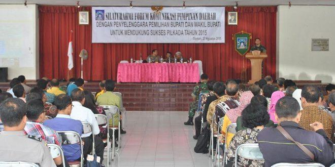 Silaturrahmi Forkopimda Dengan Penyelenggara Pemilukada Bupati Dan Wakil Bupati Sleman Th 2015