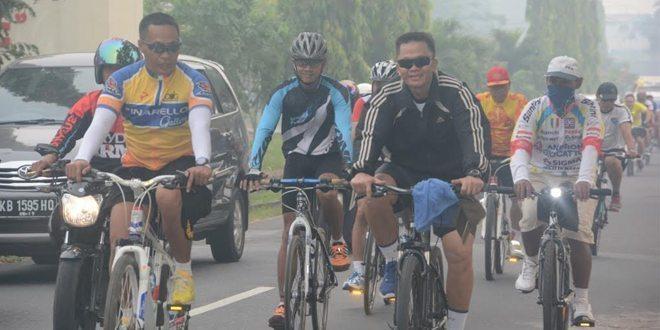 Hadirkan Udara Bersih Pamen Kodam XII/Tpr Gowes Dipagi Hari