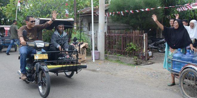Pangdam IM Sidak Asrama Dengan Becak Motor