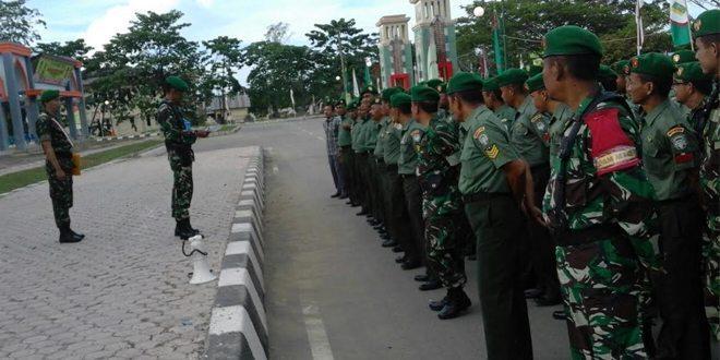 Personel Kodim 0116/Nagan Raya Amankan Penutupan MTQ