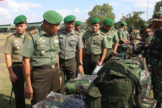 Gelar Pasukan Satgas Kipam Rahwan Yonif 755/Yalet Dihadiri Danrem 174/ATW
