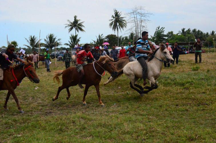 Danrem 174/ATW buka perlombaan Pacuan Kuda dalam rangka memeriahkan HUT RI Ke-70