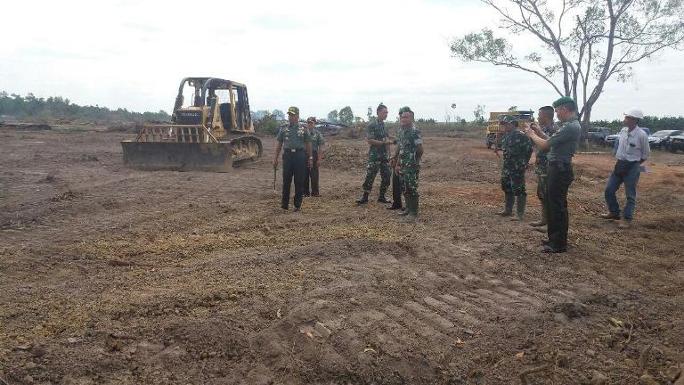 Danrem 174/ATW Tinjau Perkembangan Pembukaan Lahan Pertanian 10.000 H