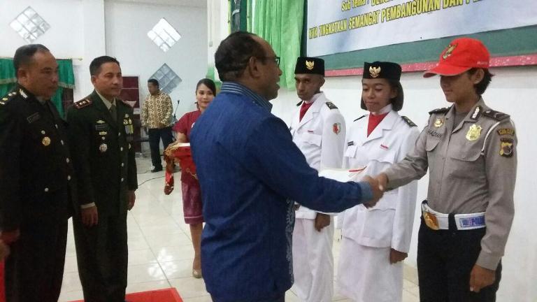 Resepsi Kenegaraan HUT ke-70 Kemerdekaan RI kabupaten boven digoel