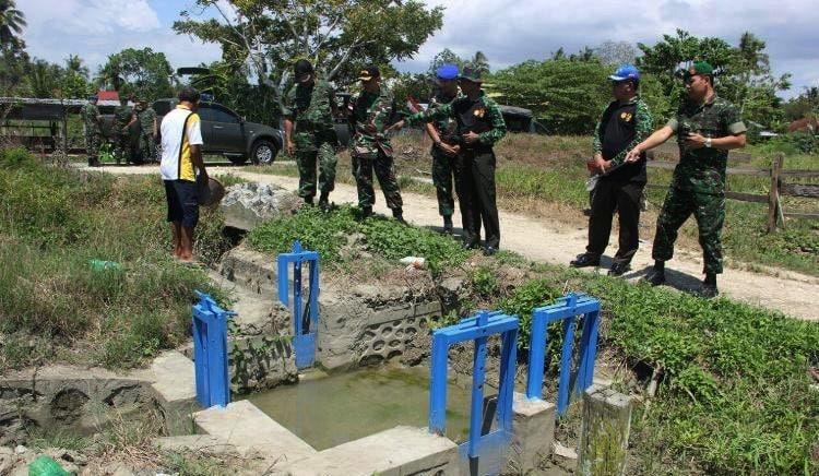 Kodim 1701/Jayapura Menerima Kunjungan Tim Monitoring Upsus Swasembada Pangan Dari Mabesad