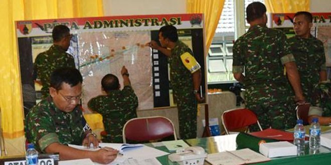 Latihan Posko- I Tahun 2015, Korem 082 Bantu Pemda Tanggulangi Bencana Alam