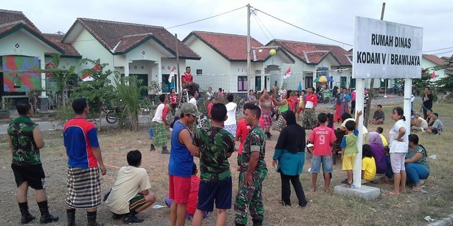 Kemeriahan Jelang HUT RI Ke – 70 Th 2015 di Rumah Dinas Kodam V / Brawijaya-Sawotratap