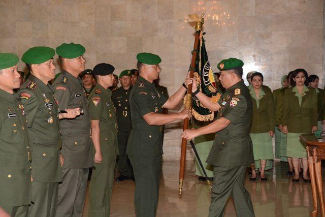 Laporan Korps Serah Terima Jabatan dan Pelepasan Mantan Pejabat Kodam IX/Udayana