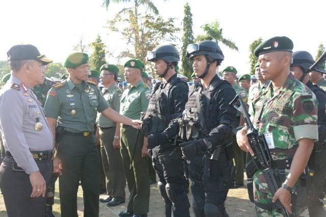 Apel Gelar Pasukan Pengamanan VVIP Kunjungan Presiden RI di Provinsi Bali