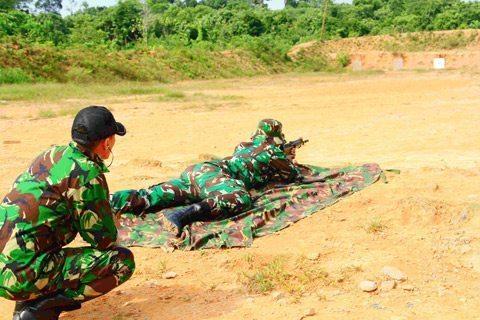 Kodim 0910/Mln Laksanakan Latihan Menembak Bersama Perbakin Kab. Malinau
