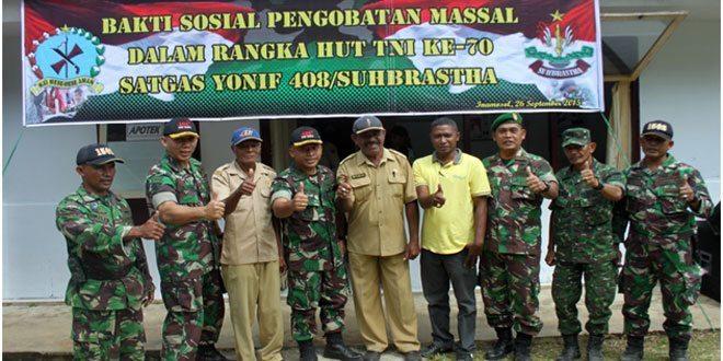 Satgas BKO Yonif 408/Sbh Gelar Penggobatan Massal di Kampung Terpencil