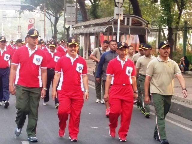 Pangdam Jaya Menghadiri Lomba Lari 10K HUT TNI ke 70
