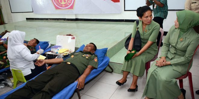 Kodam IV/Diponegoro Menggelar Donor Darah