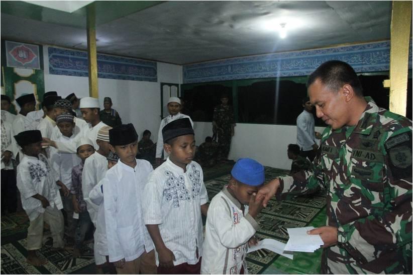 Doa Bersama Purnatugas Kotis Satgas Pamtas RI-PNG Yonif 323/Raider Kostrad