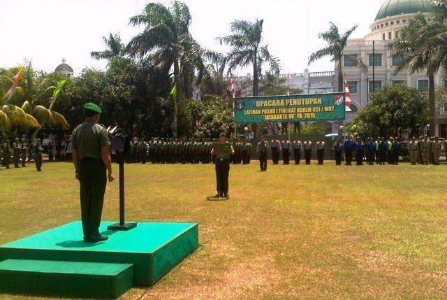 Irdam Jaya pimpin Upacara Penutupan Gladi Posko Tingkat Korem 051/wkt