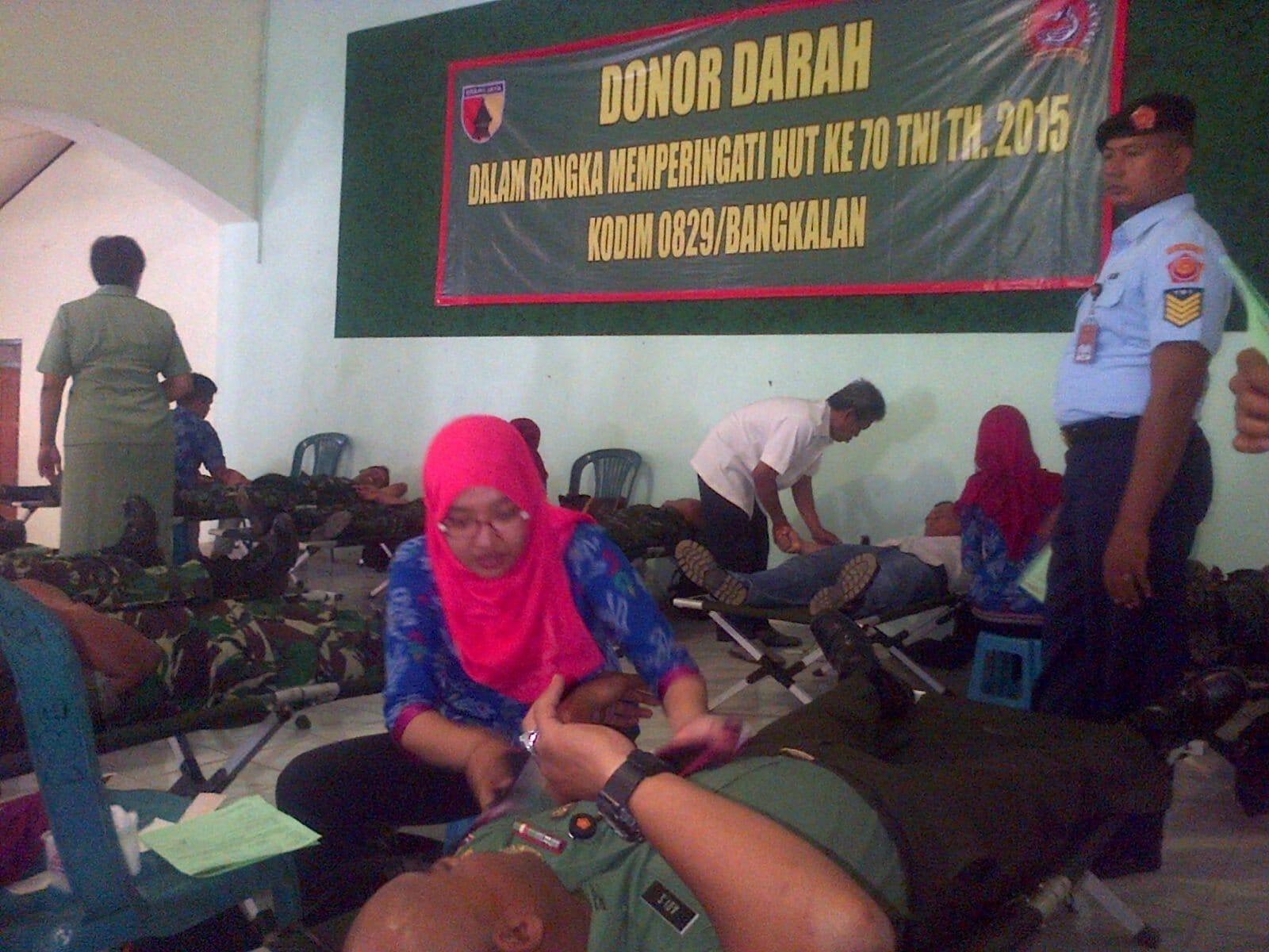 Kodim Bersama PMI Bangkalan Gelar Donor Darah