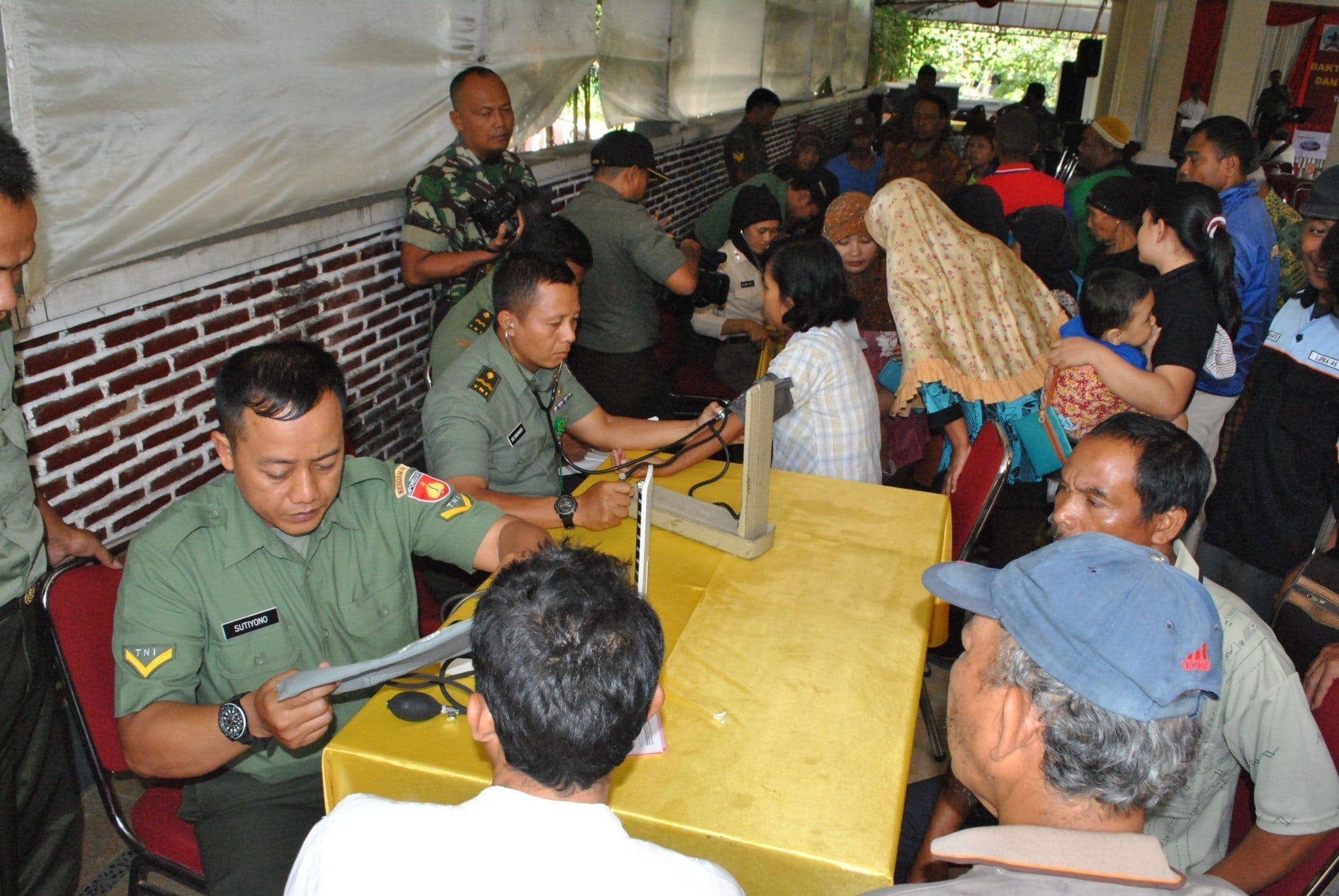 Peduli Dengan Sesama Kodim 0732/Sleman Gelar Bhaksos Dalam Rangka HUT TNI Ke-70