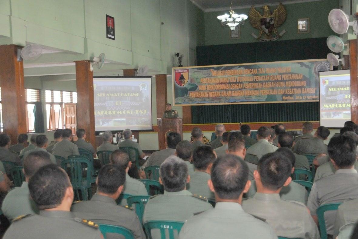 Korem 081/DSJ Laksanakan Pembinaan Tata Ruang Pertahanan Darat