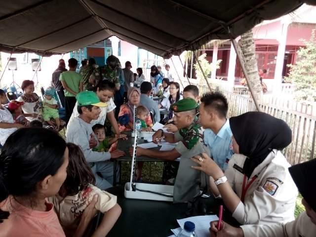 Pengobatan Gratis Dalam Rangka HUT TNI Ke 70